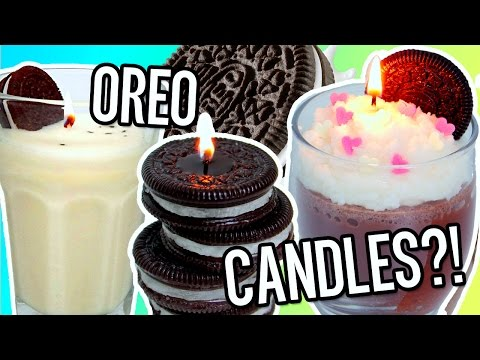 DIY OREO CANDLES! Room Decor & Amazing Gift Idea!