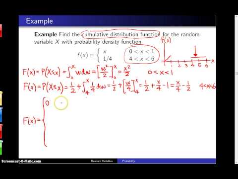 Cumulative distribution functions -- Example 5