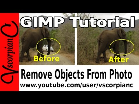 GIMP Tutorial - How to Remove People or Objects from Photos by VscorpianC