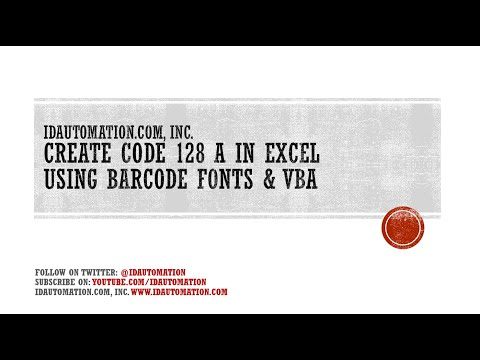 How to Create a Code128A barcode in Microsoft Excel using VBA
