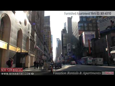 Midtown West, New York City - Video tour of a furnished apartment on 50th Street (Manhattan)