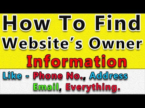 How To Find Website Owner Information | Contact To Website Owner For Buy Domain or Business.