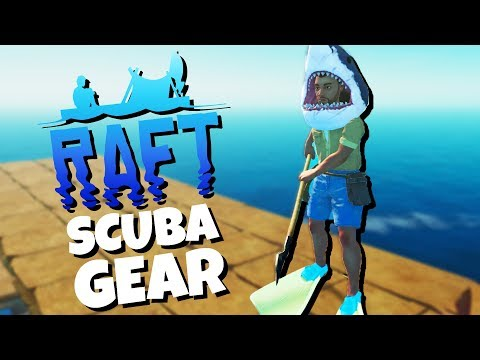 UNLOCKNIG the RAFT SCUBA Gear and Epic SHARK HAT! - Raft Gameplay