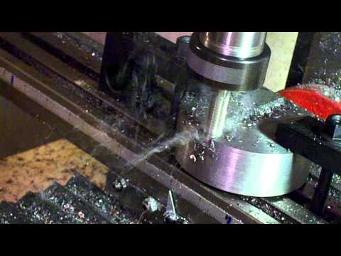 Milling a slot in Hot Rolled Steel.MOV