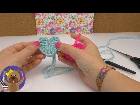 Crochet Heart Tutorial   DIY for Beginners   Gift or Key Chain