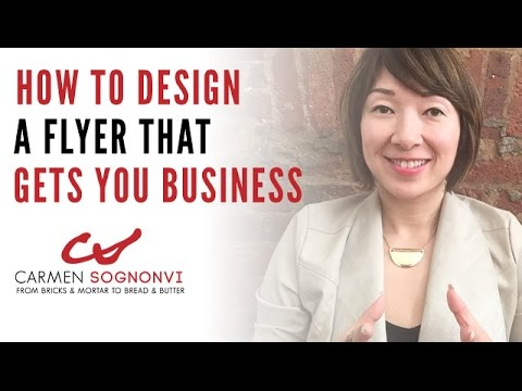 How to Design a Flyer That Gets You Business | Carmen Sognonvi