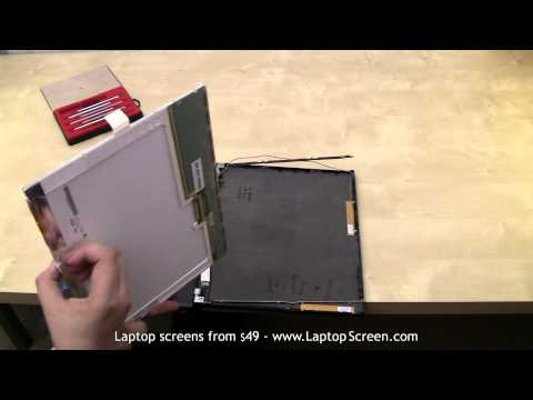 Laptop screen replacement, LCD screen replacement guide [IBM ThinkPad T60]