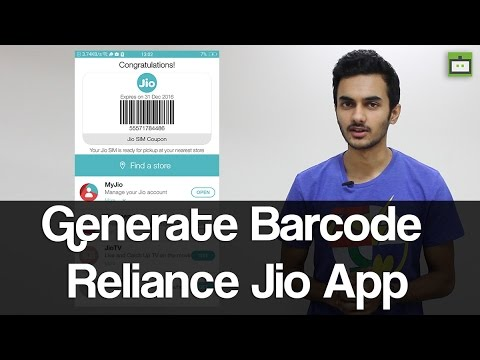 Reliance Jio 4G: How to Generate Barcode Using My Jio App - GIZBOT