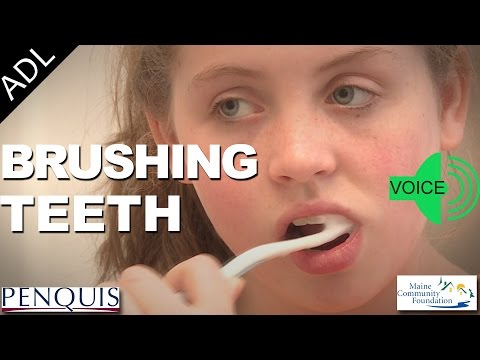 Brushing Teeth (Voice Instructions) - Penquis ADL Tools