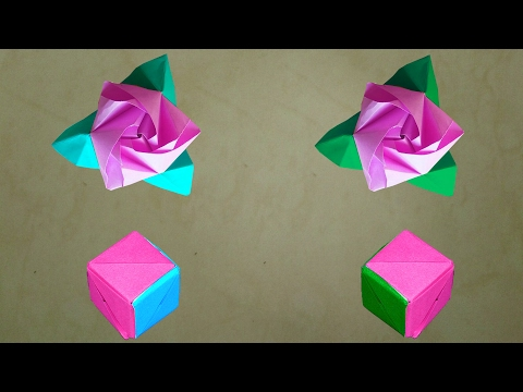 How To Make An Origami Magic Rose Cube || Diy Origami Rose Cube (Transforming) || You Can Do This