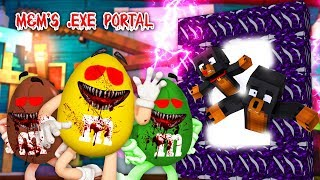 Minecraft HOW TO BUILD A PORTAL INTO THE M&M