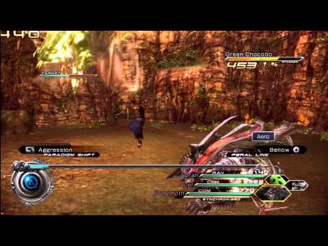 FFXIII-2: Fighting a Green Chocobo [HD]