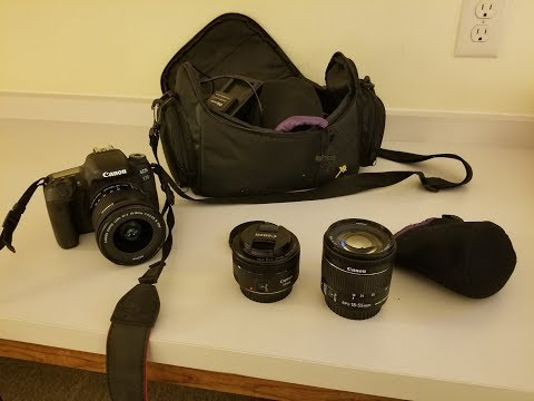 New 10-18mm wide angle lens for the DSLR camera. Comparing 3 lenses. 10-18mm, 50mm and 18-55mm.