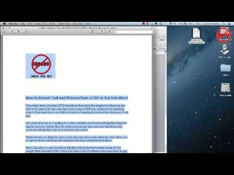 Convert PDF to Word - Mac Version