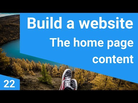 Build a responsive website tutorial 22 - The home page content