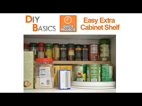 Small Kitchen Ideas: add an extra shelf in your cupboards in minutes