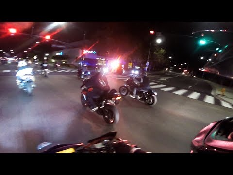 COPS TRY TO STOP STUNT RIDEOUT!!