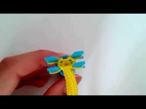 Easy Rainbow Loom Thin Hook Grip on the Mini Loom l Tutorial