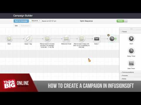 How To Create A Campaign In Infusionsoft