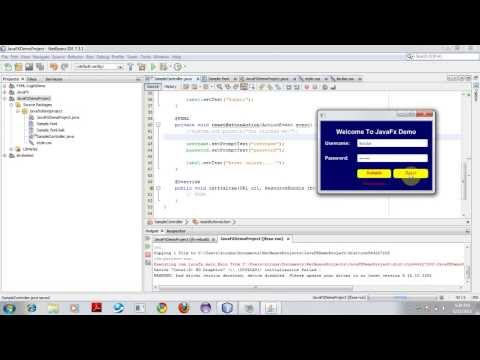 Get started with JavaFx FXML Application using NetBeans IDE 7.3.1