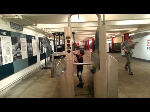 Kids at transit museum
