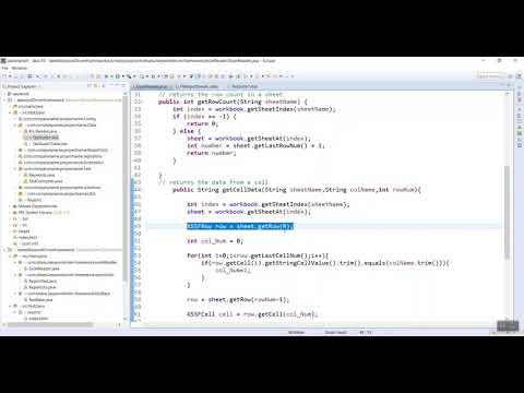 Excel Code For Keyword Driven Framework Video-5