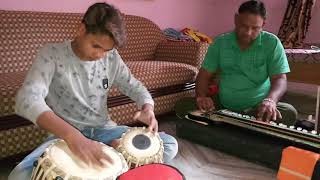 Gaurang tabla and Praveen bhai benjo bhajan solo
