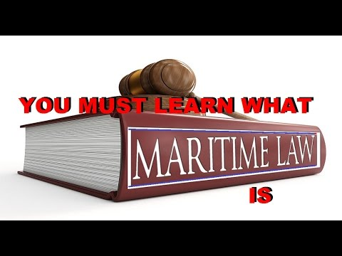 MARITIME LAW what it IS - TAXES -  HOW to BECOME LEGALLY FREE