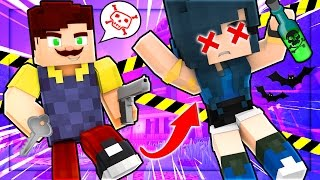HELLO NEIGHBOR - I GOT KICKED OUT FROM MY HOUSE! (Minecraft Roleplay)