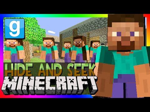 Garry's Mod | MINECRAFT HIDE AND SEEK | Gmod Minecraft Mod (Steve Playermodel)