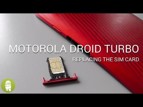 Replacing the Droid Turbo's SIM card