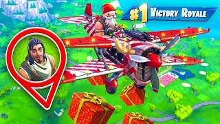 Delivering Presents as SANTA in Fortnite!