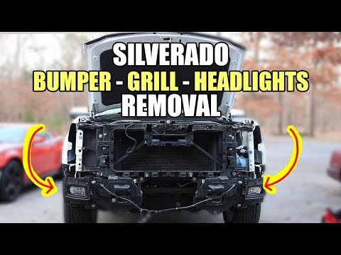 DIY: How To Remove 3rd Gen Chevy Silverado 1500 Grill Front Bumper and Headlights 2014-2018