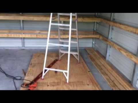 Shelf progress in storage shed