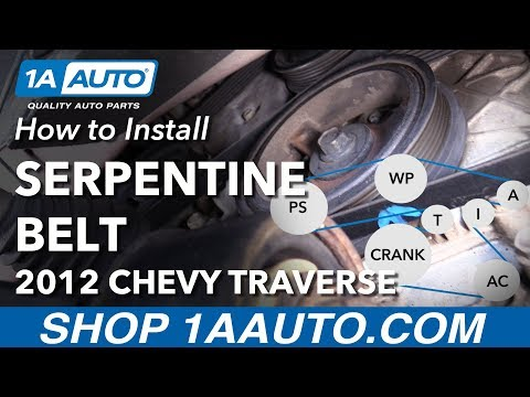 How to Install Replace Serpentine Belt 2009-13 Chevy Traverse 3.6L V6
