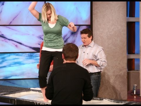 Cornstarch Walk on Water - Spangler on The Ellen Show