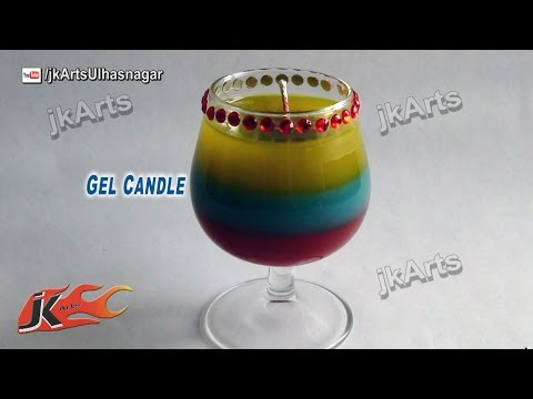 How to make Layered Gel Candles | JK Arts   488