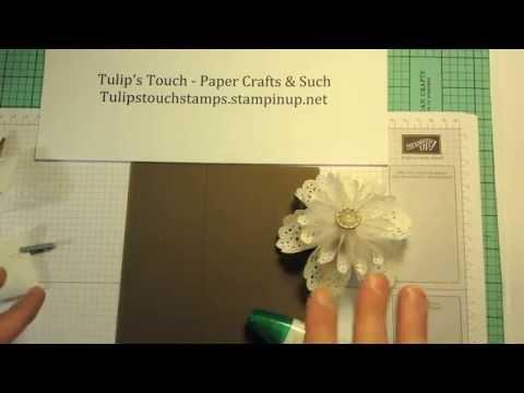 Origami White Tea Lace Paper Doily Flower - Tutorial