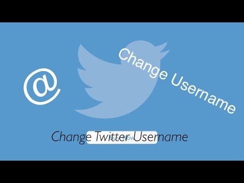 Change Twitter Username 2017!