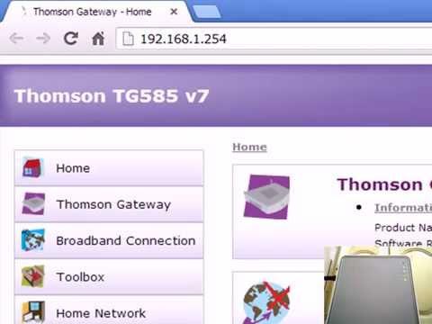 configuration thomson tg585 v7 maroc telecom 2017