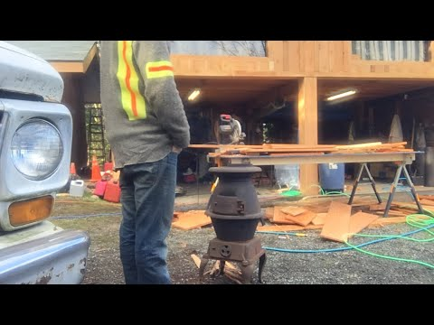 Live with the bunker boys in the new woodstove
