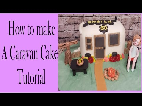 How to make a camper van or caravan cake tutorial