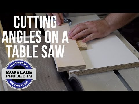 CUTTING ANGLES ON A TABLE SAW