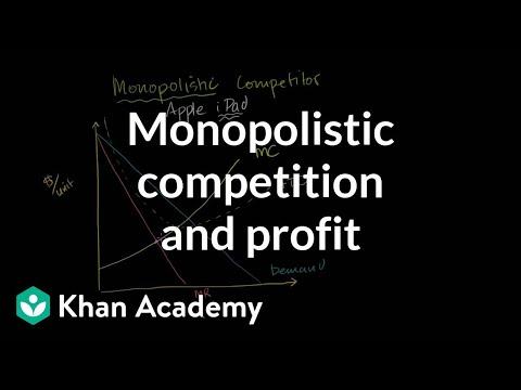 Monopolistic competition and economic profit | Microeconomics | Khan Academy