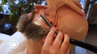 Wet Shave With Maintenance Beard Trim at Barbershop | Cut and Grind