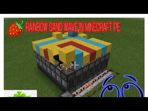 Rainbow sand wave in Minecraft pe