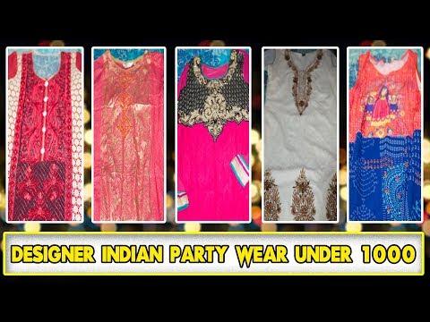 Indian Party Wear Dresses Under 1000 | Best Designer Wear Shop In Lucknow | Indian Makeup