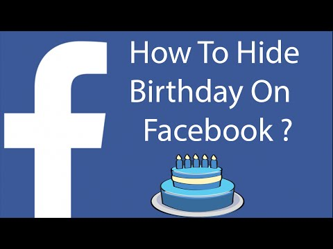 How To Hide Your Birthday On Facebook-2016 ?
