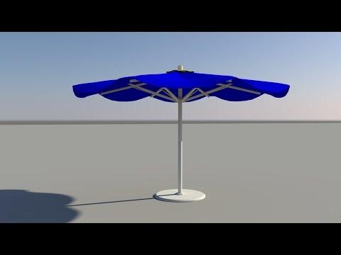Maya tutorial: How to model a Beach Umbrella