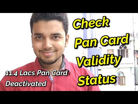 How to Check Your Pan Card Validity Status | 11.4 Lacs Pan Card Deactivated | Hindi - हिंदी